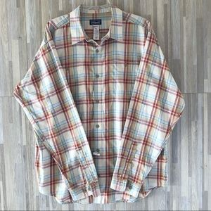 PATAGONIA Casual Plaid Long Sleeve Button Up Shirt